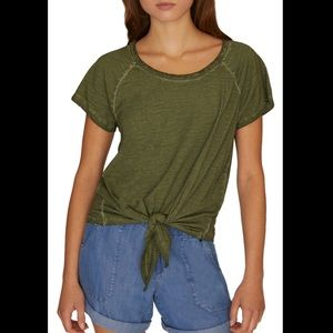 NWT Sanctuary Green Lou Tie Top